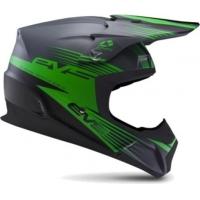 Capacete evs t5 works cinza matte/verde/preto