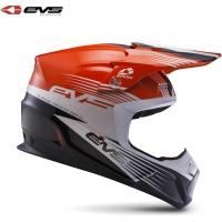 Capacete evs t5 works laranja/branco/preto