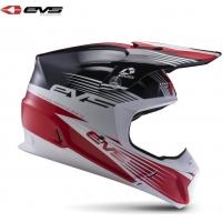 Capacete evs t5 works preto/branco/vermelho
