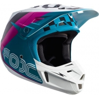 Capacete fox v2 rohr teal