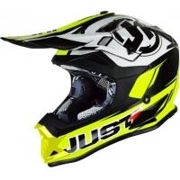 Capacete just1 j32 pro rave neon amarelo/preto