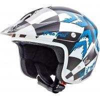Capacete nau free trial n400 branco/azul