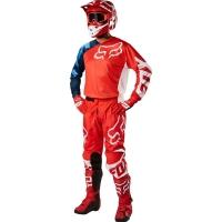 Conj. calÇa/camisola fox 180 race vermelho 2018