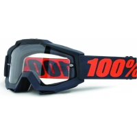 Óculos 100% accuri gunmetal enduro lente transparente dupla