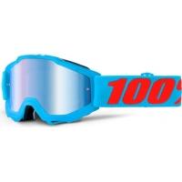 Óculos 100% accuri junior acidulous cyan lente espelhada azul