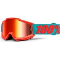 Óculos 100% accuri passion lente espelhada vermelha