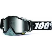 Óculos 100% racecraft abyss black lente espelhada prata