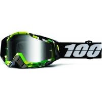 Óculos 100% racecraft bootcamp lente espelhada prata