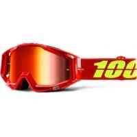 Óculos 100% racecraft corvette lente espelhada vermelha
