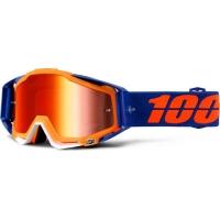 Óculos 100% racecraft derestricted lente espelhada vermelha