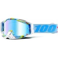 Óculos 100% racecraft hyperloop lente espelhada azul
