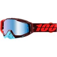 Óculos 100% racecraft kikass lente espelhada azul