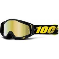 Óculos 100% racecraft race day lente espelhada dourada