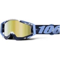 Óculos 100% racecraft tiedye lente espelhada dourada