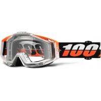 Óculos 100% racecraft ultrasonic lente transparente