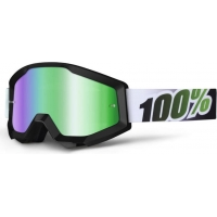 Óculos 100% strata black lime lente espelhada verde