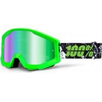 Óculos 100% strata crafty lime lente espelhada verde