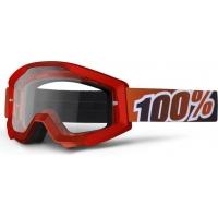 Óculos 100% strata fire red lente transparente