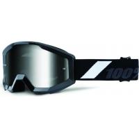 Óculos 100% strata goliath lente espelhada silver