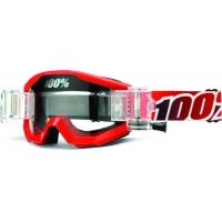 Óculos 100% strata mud fire red