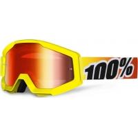 Óculos 100% strata sunny days lente espelhada vermelha