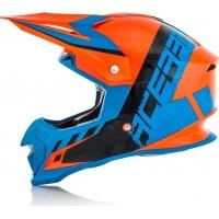 Capacete acerbis profile 4 laranja/azul 2018