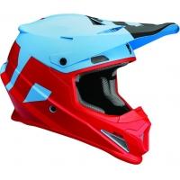 Capacete thor sector level azul/vermelho mate