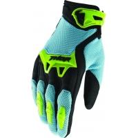 Luvas thor spect preto/azul/verde fluor